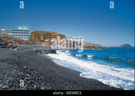 Exclusive golf resort coastal approach, Amarilla Golf, Tenerife, Canary Islands, Spain - Stock Image