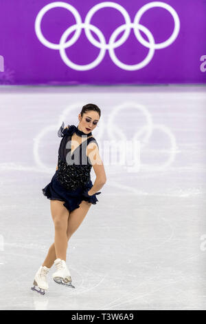 Kaetlyn Osmond (CAN) competing in the Figure Skating - Ladies' Short at the Olympic Winter Games PyeongChang 2018 - Stock Image