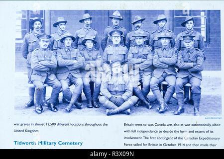 Tidworth military cemetery, Tidworth, Wiltshire, England, UK old photo NCOs from Australia, New Zealand and United Kingdom Tidworth Camp 1916 - Stock Image