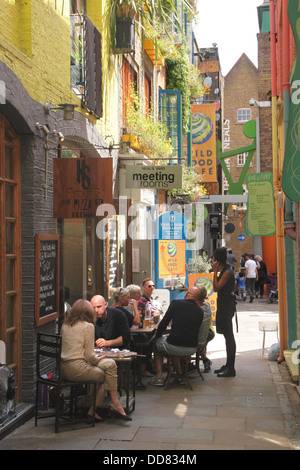 Homeslice Pizza restaurant at Neal's Yard Covent Garden London - Stock Image
