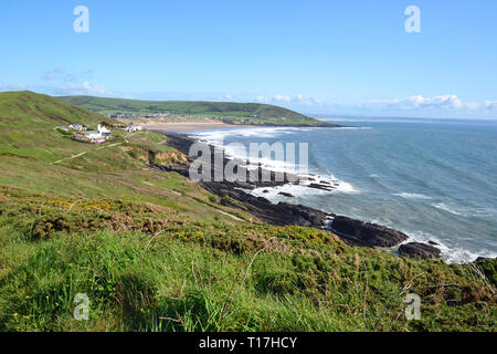 Scenery on the walk to Baggy Point, Croyde, Braunton, North Devon, UK - Stock Image