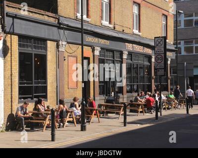 The Three Johns Pub Islington London - Stock Image