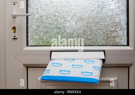 Amazon Prime parcel delivery. - Stock Image