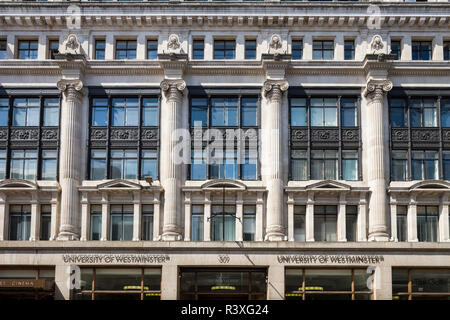 The Former Regent Street Polytechnic building, Portland Place, London, designed by George Mitchell c. 1910, now part of the University of Westminster. - Stock Image