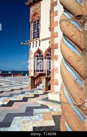 Terracotta details at Ca d'Zan, the Mediterranean Revival mansion of circus owner and art collector John Ringling and his wife Mable, Sarasota, Florid - Stock Image