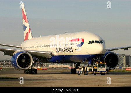 British Airways Boeing 777 236 ER London Heathrow UK - Stock Image