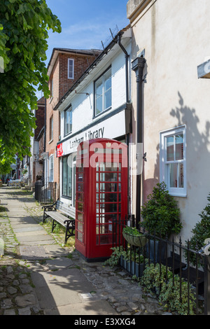 Old Fashioned Telephone Box in the Pretty Village of Lenham Kent - Stock Image
