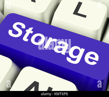 Storage Key On Keyboard Meaning Store Unit Or Storeroom - Stock Image