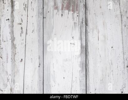Full Frame Shot Of White Wooden Wall - Stock Image
