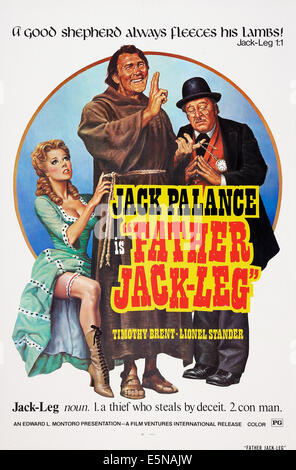 FATHER JACKLEG, (aka TEDEUM, aka STING OF THE WEST), Jack Palance (center), 1972 - Stock Image