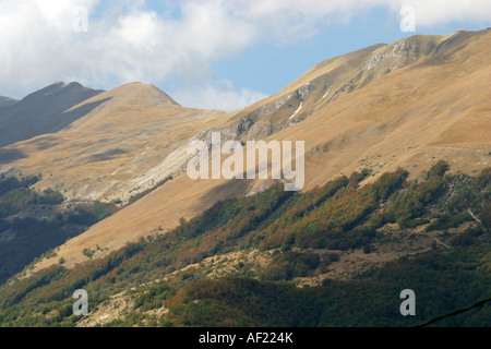 Glorious slopes of Monte Sibilla in the Sibillini National Park Le Marche Italy - Stock Image