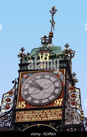 UK Cheshire Chester Eastgate Clock - Stock Image