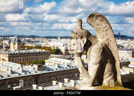 Paris aerial view with Chimera - Stock Image