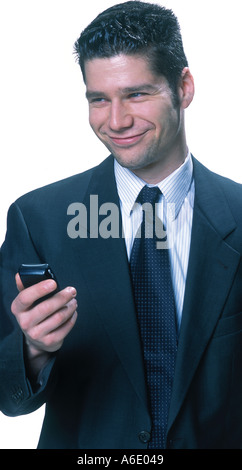 Businessman with cellphone - Stock Image