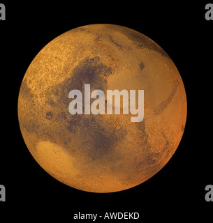 Mars is the fourth planet in the solar system - Stock Image