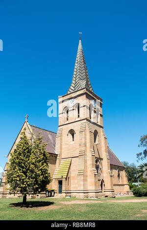 St Alban's Anglican Church, Muswellbrook, NSW Australia. - Stock Image