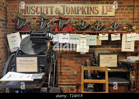 Victorian Print Works at the Milton Keynes Museum, Wolverton and Greenleys, in Milton Keynes, Buckinghamshire, UK - Stock Image