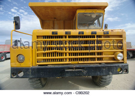 Truck construction vehicles GIANT - Stock Image