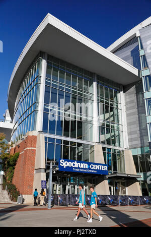 Charlotte North Carolina. Spectrum Center, home arena for the Hornets basketball team. - Stock Image