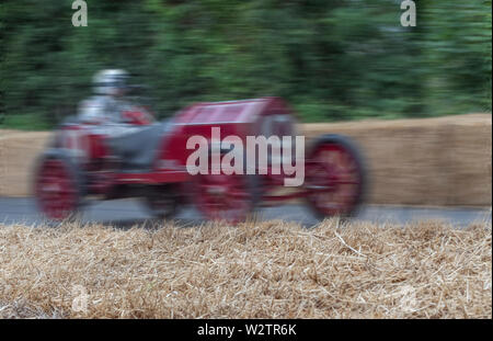 1903 Mercedes 60HP streaking past the grandstand for the hill climb at the 2019 Goodwood Festival of Speed, Sussex, UK. - Stock Image