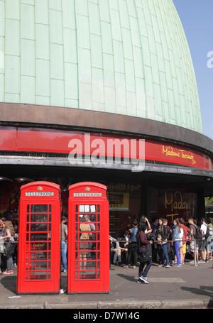 Madame Tussauds Wax Museum Marylebone Road London - Stock Image