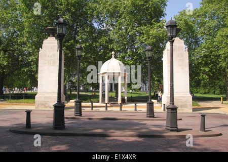 Commonwealth Soldiers War Memorial Constitution Hill London - Stock Image