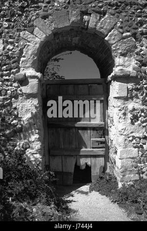 old wooden doorway - Stock Image