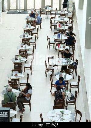 Coffee shop National Museum Singapore. - Stock Image