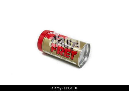 Fast Fret brand guitar and stringed instrument string cleaner and lubricant - Stock Image