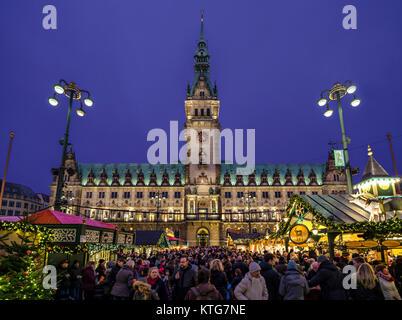 Hamburg Christmas Market - Stock Image