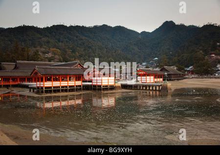 Itsukushima Shrine, Miyajima Island, Hiroshima, Japan - Stock Image