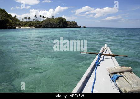 Boating off of Boracay Island, Philippines. - Stock Image