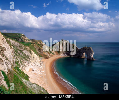Durdle Door on the Jurassic Coast, Dorset, England, UK - Stock Image