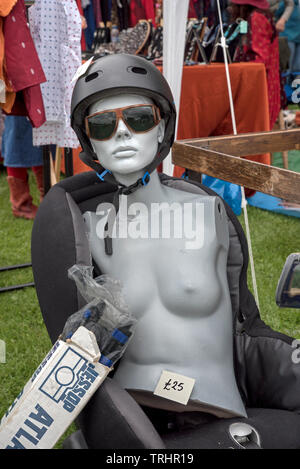 Quirky and strange stalls at the annual Meadows Festival, Edinburgh, Scotland, UK. - Stock Image