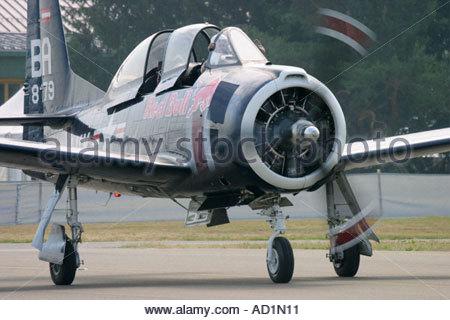 Zeltweg 2005 AirPower 05 airshow Austria North American T 28B Trojan - Stock Image