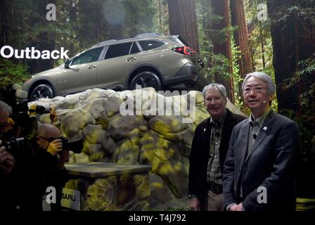 New York, NY, USA. 17th Apr, 2019. 2020 Subaru Outback, Tomomi Nakamura, Thomas Doll in attendance for New York International Auto Show - WED, Jacob K. Javits Convention Center, New York, NY April 17, 2019. Credit: Kristin Callahan/Everett Collection/Alamy Live News - Stock Image