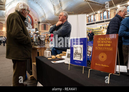 London, Wood Green, UK. 20th January 2019. The annual London Model Engineering Exhibition, held at Alexandra Palace. Visitors were able to view displays by over 50 clubs or societies, and specialist stalls selling modellers supplies and tools. The exhibition was organised by Meridienne Exhibitions Credit: Steve Bell/Alamy Live News - Stock Image
