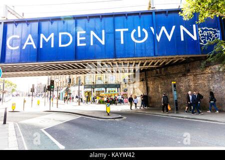 Camden town London city, Camden town bridge, Camden town bridge London city, Camden town iconic, Camden town London - Stock Image