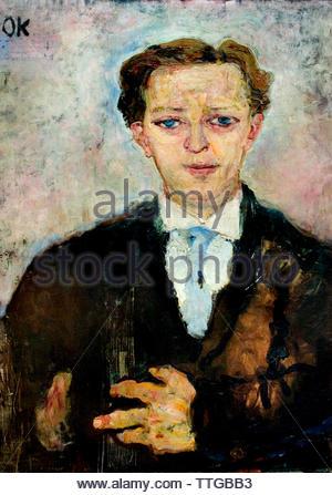 The Trance Player (Der Trancespieler) 1909 by Oskar Kokoschka born 1886 Austria Austrian (expressionistic portraits and landscapes) - Stock Image