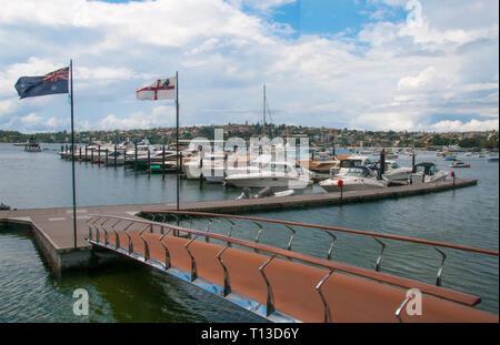 Marina at Rose Bay, Sydney - Stock Image