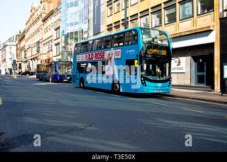 Bus and Coach, Leeds, England - Stock Image