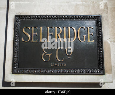Selfridge and Co store in Oxford Street London. UK Britain - Stock Image