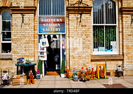 Saltburn Station Gallery, Saltburn by the Sea, North Yorkshire, England - Stock Image