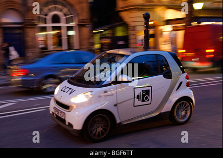 CCTV police camera Smart car patrolling in Westminster. London. UK 2009 - Stock Image