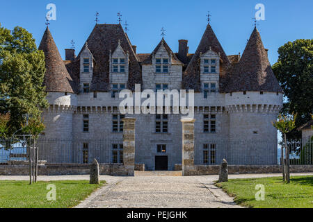 Chateau de Monbazillac near the town of Bergerac in the Dordogne area of the Nouvelle-Aquitaine region of France. - Stock Image