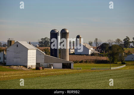 A farm in Pennsylvania Dutch Country at Farmersville,Lancaster County, Pennsylvania, USA - Stock Image