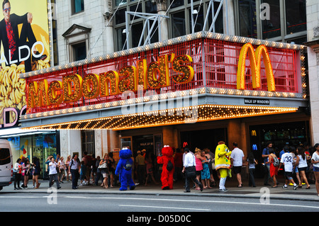 McDonalds in New York City, USA - Stock Image