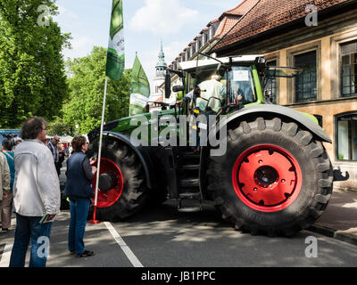 Festival 'Landpartie' , shows and exhibitions on meadows of Celle castle, Bomann museum and church in the - Stock Image