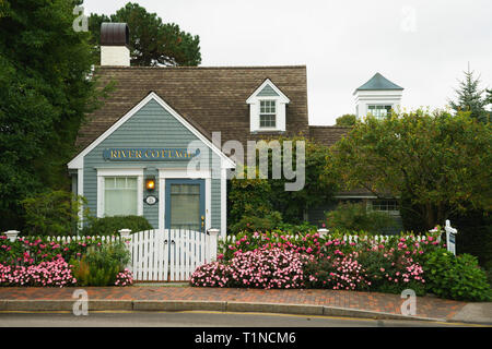 The River Cottage in Kennebunkport, Maine, USA. - Stock Image