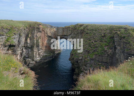 Vat of Kirbister, Natural Arch, Stronsay, Orkney - Stock Image